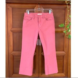 Tory Burch Pink Mariana Cropped Jeans